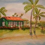 Hawaiin Cottage Poster