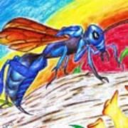 Hawk Wasp Poster