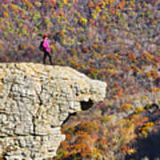 Hawksbill Crag In Autumn Poster
