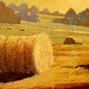 Hay Bales Of Bordeaux Poster