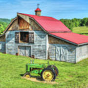 Hayesville Barn And Tractor Poster