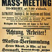 Haymarket Handbill, 1886 Poster by Granger