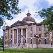 Hays County Courthouse Poster