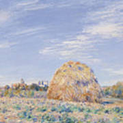 Haystack On The Banks Of The Loing Poster