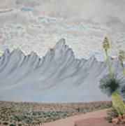 Hazy Desert Day Poster