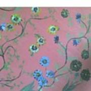 Hds-acrylic-floral-pink Poster