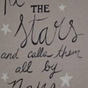 He Counts The Stars Poster