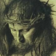 Head Of Christ Poster by Franz Von Stuck