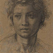Head Of Saint John The Baptist Poster