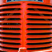 Head On To An Old Case Tractor Grill In Classic Orange Paint Poster