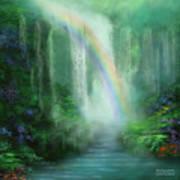 Healing Grotto Poster by Carol Cavalaris