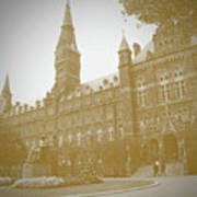 Healy Hall Sepia Poster