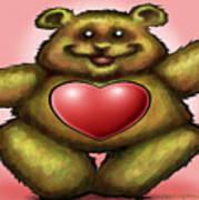 Heart Bear Poster