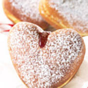 Heart Donuts Poster