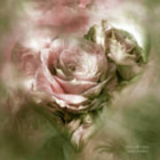 Heart Of A Rose - Antique Pink Poster
