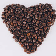Heart Of Coffee Beans Poster
