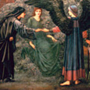 Heart Of The Rose Poster by Sir Edward Burne-Jones