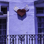 Heart On Wall Poster