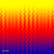 Heat Wave Abstract Design Poster