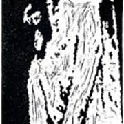 Heavenward --  Hand-pulled  Linoleum Cut Poster