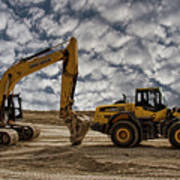Heavy Duty Earth Movers Poster