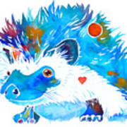 Hedgehog With Heart Poster