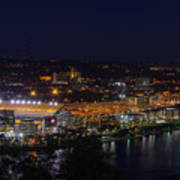 Heinz Field At Night From Mt Washington Poster