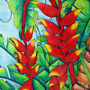 Heliconia Study Poster