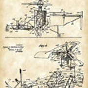 Helicopter Patent 1940 - Vintage Poster