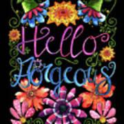Hello Gorgeous Black  Poster