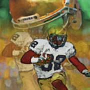 Helmet N Halfback Poster