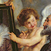 Henri Iv Receiving The Portrait Of Marie De Medici Poster by Rubens