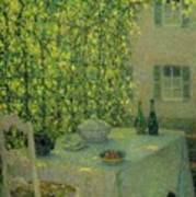 Henri Le Sidaner 1862 - 1939 The Village Table Gerberoy Poster
