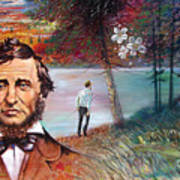 Henry David Thoreau Poster by John Lautermilch