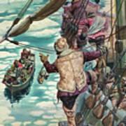 Henry Hudson Being Set Adrift Poster