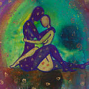 Her Loves Embrace Divine Love Series No. 1006 Poster
