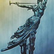 Heraldic Memorial Statue At Gettysburg Poster