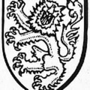 Heraldry: Lion Poster