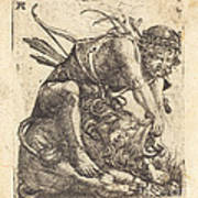 Hercules Overcoming The Nemean Lion Poster