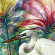 Heron Flair Poster