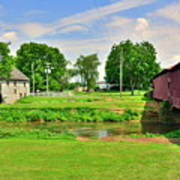 Herr's Grist Mill And Covered Bridge Poster