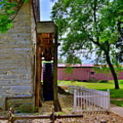 Herr's Mill And Covered Bridge 2 Poster