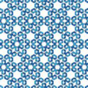 Hexagonal Snowflake Pattern Poster
