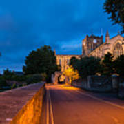 Hexham Abbey At Night Poster