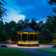 Hexham Bandstand At Night Poster