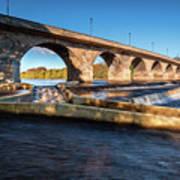 Hexham Bridge And Fish Pass Poster