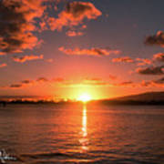 Hickam Sunset Poster
