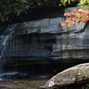 Hickory Nut Falls At Chimney Rock Nc Poster
