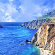 Hidden Beach At Big Sur Poster