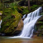 Hidden Hocking Hills Waterfall Ohio Poster